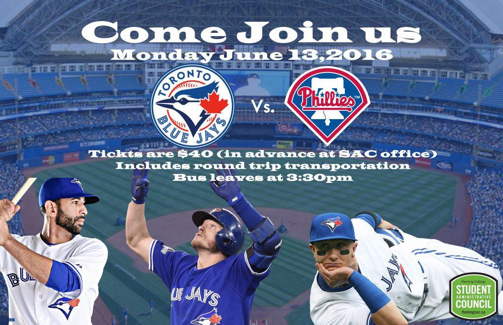 poster for Blue Jays Baseball Game