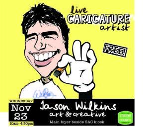 Caricature Artist Jason Wilkins - Fleming Student