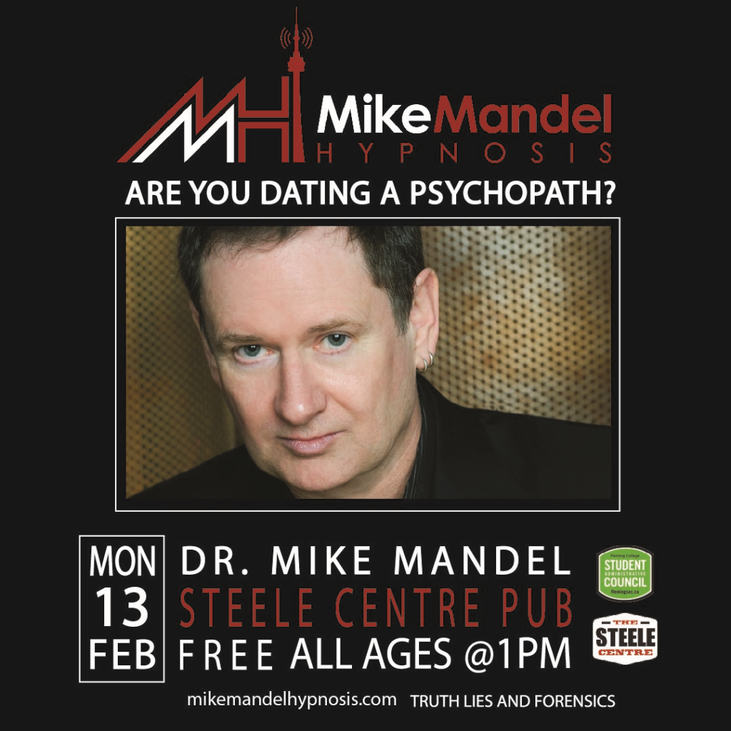 poster for Mike Mandel Hypnosis