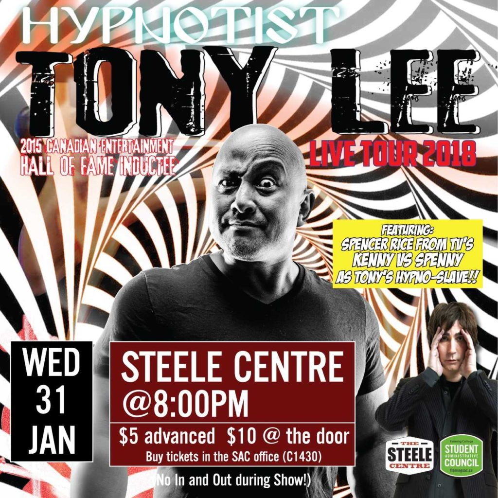 poster for Hypnotist Tony Lee